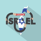 Israel Typography Design. Royalty Free Stock Photography