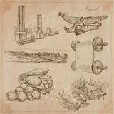 Israel - una colección dibujada mano Paquete del vector stock de ilustración