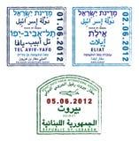 Israel und der Libanon lizenzfreie abbildung