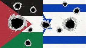 Israel- und Palästina-Flaggen Lizenzfreies Stockfoto