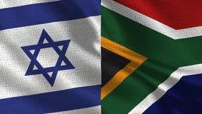 Israel- und Südafrika-Flagge - zwei Flaggen zusammen stockfotografie