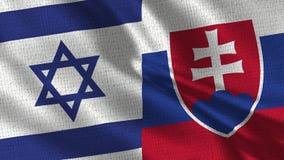 Israel- und Slowakei-Flagge - zwei Flaggen zusammen lizenzfreie stockbilder