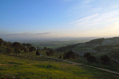 Israel valley. View of the Israel valley form the city of Natzeret, Israel Royalty Free Stock Image