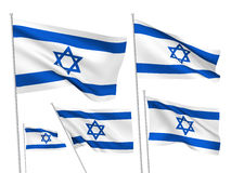 Israel vector flags Royalty Free Stock Images