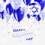 Israel Vector Patriotic Poster Fond de grunge de l'indépendance Day Image libre de droits