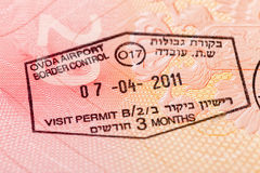Israel visa in the passport Stock Photo