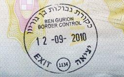 Israel visa stamp in passport Royalty Free Stock Images