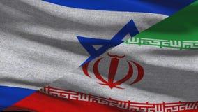 Israel Vs Iran Waving Flags en Alpha Channel libre illustration