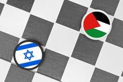 Israel vs Palestine. Draughts (Checkers) - Israel vs Palestine stock images