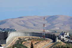Israel West Bank Barrier Stock Image