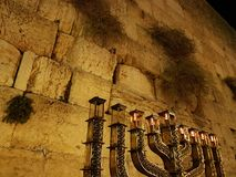 Western wall hannukah. Israel western wall Royalty Free Stock Photos