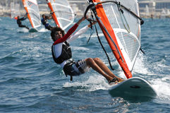 Israel Youth Championship of Yacht Stock Images