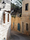Israel Zfat Alley. History zfat alley Royalty Free Stock Image