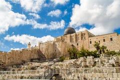 Israele, Gerusalemme Al-Aqsa moschea 4 aprile 2015 Fotografie Stock Libere da Diritti