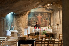 Israele, Gerusalemme, grotta di Gethsemane sul monte degli Ulivi Fotografie Stock Libere da Diritti