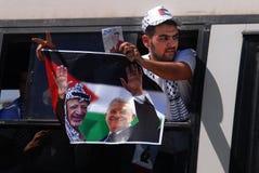 Israele libera 255 prigionieri palestinesi Immagini Stock