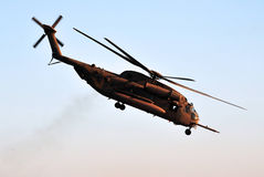 Israeli Air Force Helicopter. SOUTH ISRAEL - JULY 27: An Israeli IAF military helicopter shows its capabilities in an air show in Southern Israel on July 27 Royalty Free Stock Image