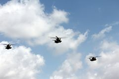 Israeli Air Force helicopters at parade Stock Photo