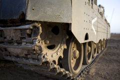 Israeli army armored corp. Caterpillar of tank Merkava, Israeli army armored corp Stock Images