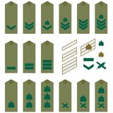Israeli Army insignia. Epaulets, military ranks and insignia. Illustration on white background Royalty Free Stock Photo