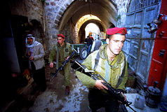 ISRAELI ARMY ON THE WEST BANK Royalty Free Stock Photos