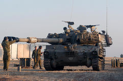 Israeli Artillery M109 Howitzer Unit Stock Photo