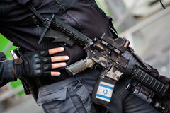 Israeli with assault rifle Stock Image