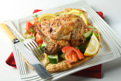 Israeli barbecue chicken Royalty Free Stock Photos