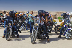 Israeli biker club outdoors Royalty Free Stock Image