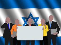 Israeli business team with flag Stock Photography