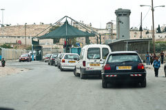 Israeli Checkpoint Royalty Free Stock Photo