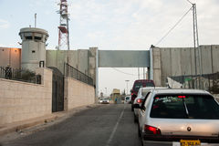 Israeli checkpoint and wall Stock Images