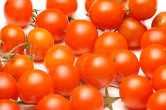 Israeli cherry tomatoes. On a branch. White background Royalty Free Stock Photography