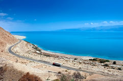 Dead Sea. Israeli coast of the Dead Sea, in the area of the reserve Ein Gedi Royalty Free Stock Images