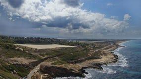 Israeli coast. Near the border with Lebanon Royalty Free Stock Images