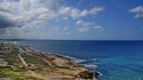Israeli coast. Near the border with Lebanon Stock Photo