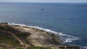 Israeli coast. Near the border with Lebanon Stock Photography