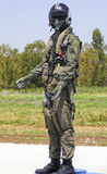 Israeli combat suit pilot Royalty Free Stock Photos