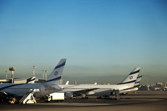 Parked Israeli Planes Stock Photo