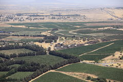 Israeli Cultivated Camps & Ceasefire Line Royalty Free Stock Photo