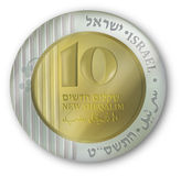 Israeli currency coin Stock Photography