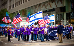 Israeli Day Parade in New York City. Israeli Day Parade, also known as the Salute to Israel Parade, is an annual parade held in New York City each summer to Stock Photos