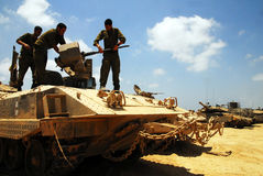 Israeli fighters in North Gaza strip Royalty Free Stock Images