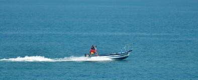 Israeli fishermen on fishing boat Royalty Free Stock Image