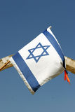 Israeli Flag. The star of David on the Israeli flag, taken in the Old City Jerusalem stock image