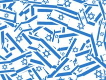 Israeli flag collage Stock Images