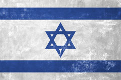 Israeli Flag. Israel - Israeli Flag on Old Grunge Texture Background royalty free stock photography