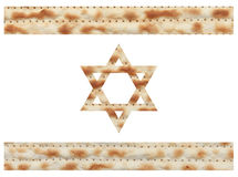 Israeli flag made with Matzo texture Stock Photo