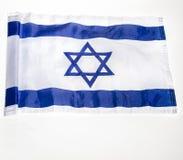 Israeli flag. Photo of Israeli flag isolated on white for design use stock image