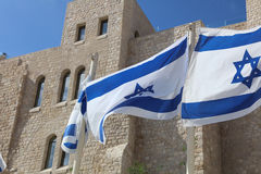 Israeli Flags Royalty Free Stock Photo